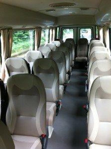 Interior of 23-Seater Bus
